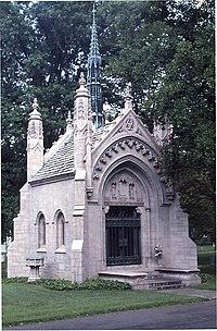 Mausoleum for Adophus Busch in Bellefontaine Cemetery