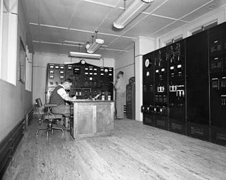 Butlers Gorge Power Station - Control room (1953)