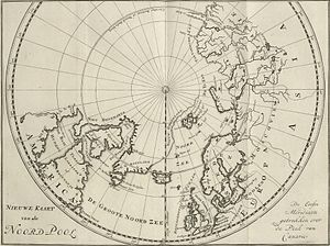 North Pole - C.G. Zorgdragers map of the North Pole from 1720