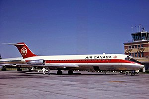 Air Canada Flight 189 - The aircraft involved in the crash in 1969