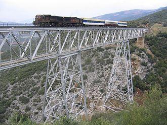 Baghdad railway - Railway passes varied landscapes: bridge between the Turkish/Syrian border station Meydan Ekbez and the junction Mouslemiye
