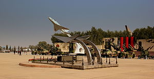 Chinese Aviation Museum - Rocket artillery at outdoor area