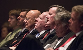 John O. Brennan - Brennan and James Clapper at the LBJ Presidential Library, September 16, 2015