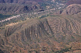 Central Australia - Aerial view of Central Australian landscape