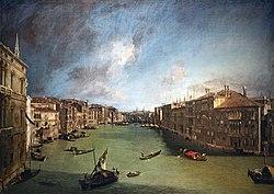 Ca' Rezzonico - Canal Grande da Palazzo Balbi a Rialto C.1722 - Canaletto.jpg