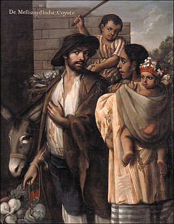 Mestizo and India with their Coyote children. Cabrera 15 Coyote.jpg