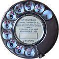 Cadran Téléphonique Modèle Administratif 1927 avec Disque d'Appel Normalisé En Laiton Nickelé (PTT France).jpg