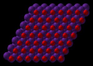Caesium oxide - Image: Caesium oxide xtal 3D SF