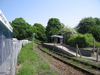 Calstock railway station - The platform, looking north