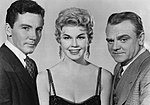 Cameron Mitchell, Doris Day, and James Cagney.jpg