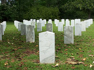 Camp Moore - Graves at Camp Moore Confederate cemetery