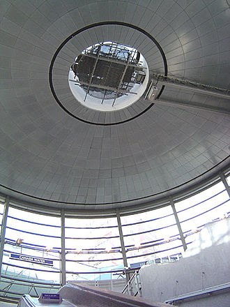 "Canada Water station - Below-ground view of the ""drum"""