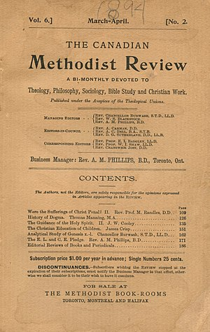 Nathanael Burwash - Burwash was a managing editor of the Canadian Methodist Review
