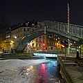 Canal Saint-Martin, Paris - Frozen Canal and Passerelle Alibert.jpg