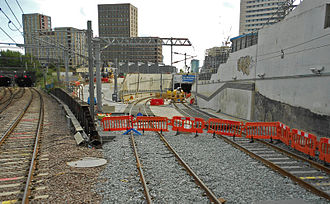 Thameslink Programme - Canal Tunnels northern entrance at Belle Isle