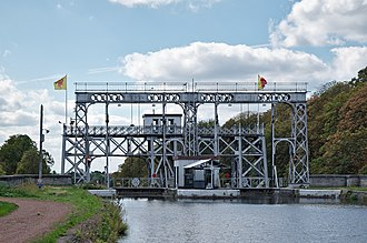 Boat Lifts on the Canal du Centre - Image: Canal du Centre Ascenseur no 2, Houdeng Aimeries (DSCF7927)