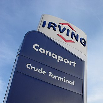 Irving Oil - Irving Canaport sign