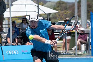 Marc Polmans - Marc Polmans during the final of the Canberra International (November 2016)