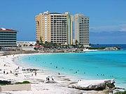 Mexico Cancún es uno de los destinos turísticos más importantes de México.