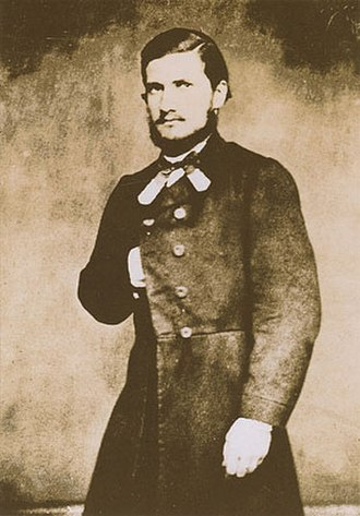 Cándido López - Cándido López in uniform  (mid 1860s)
