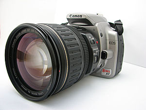 Canon EOS 350D - EOS 350D with lens
