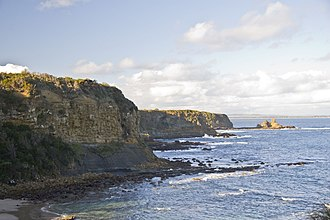 Bunurong Marine National Park - A cliff at Cape Paterson, located adjacent to the marine park.