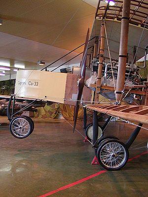 Caproni Ca.3 - Nose of the Caproni Ca.33 at Vojenské Historické Múzeum, Piešťany, Slovakia, 2007