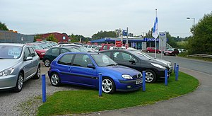 English: Car dealership, Ross-on-Wye New and u...