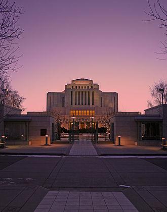 Harold W. Burton - Image: Cardston Alberta Canada Temple