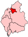 A small constituency, to the north of the centre of the county.
