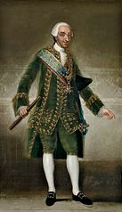 Karol III w stroju dworskim
