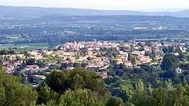 A view of Caromb from Montmirail