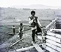 Carpenter, sheepskin jacket, frock Fortepan 86870.jpg