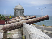 Cannons from the Colonial times over city walls