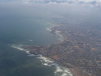 An aerial view of Casablanca.