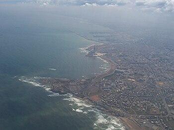 An aerial view of Casablanca.