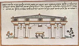 Ramban Synagogue - Shown in the Casale Pilgrim (16th-century)