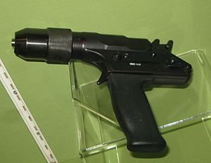 Photo of a captive bolt pistol / bolt gun