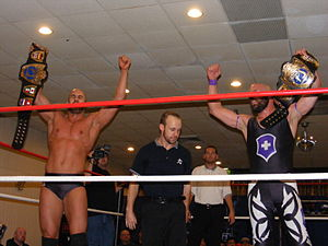 Ares (wrestler) - Ares and Claudio Castagnoli as the Chikara Campeones de Parejas in October 2010.