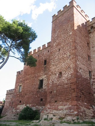 Castelldefels Castle - The eastern section of the castle keep