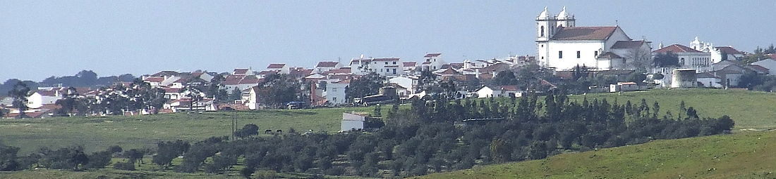 Panoramic Vista of Castro Verde from the Memorial Site Overview of the Battle of Ourique on June 25, 1139.