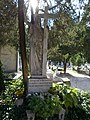 Catholic cemetery, Jesus Christ grave sculpture, 2018 Ráckeve.jpg