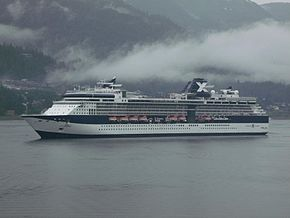Celebrity Infinity tendering at Juneau, Alaska.jpg