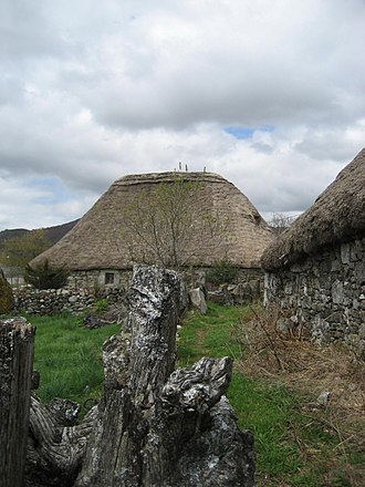 History of Galicia - The Palloza, a Galician house type still present in the eastern mountains of Galicia, was from the Iron Age until the Middle Ages common to the whole of Galicia.
