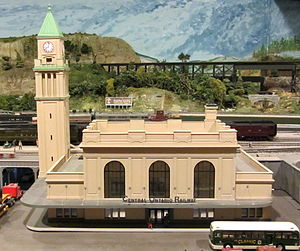 North Toronto station - A model of the station created by the Model Railway Club of Toronto