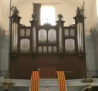 Church of Saint Peter, Céret - Image: Ceret organ