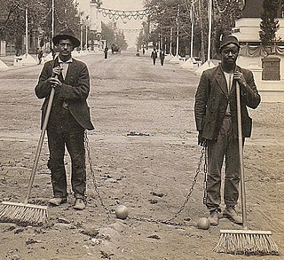 Chain gang Group of prisoners chained together to perform menial or physically challenging work as a form of punishment
