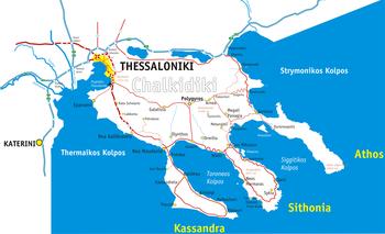 geografska karta grcke halkidiki Halkidiki   Wikipedia geografska karta grcke halkidiki