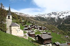 Anniviers - Village of Chandolin in the municipality of Anniviers