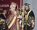 Chandresh Kumari Katoch lighting the lamp at the 10th Convocation of National Museum Institute, in New Delhi. The Minister of State for Human Resource Development, Dr. Shashi Tharoor and the Secretary Culture.jpg
